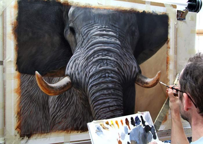 how to paint an elephant http://www.jasonmorgan.co.uk/how-to-paint-an-elephant.html