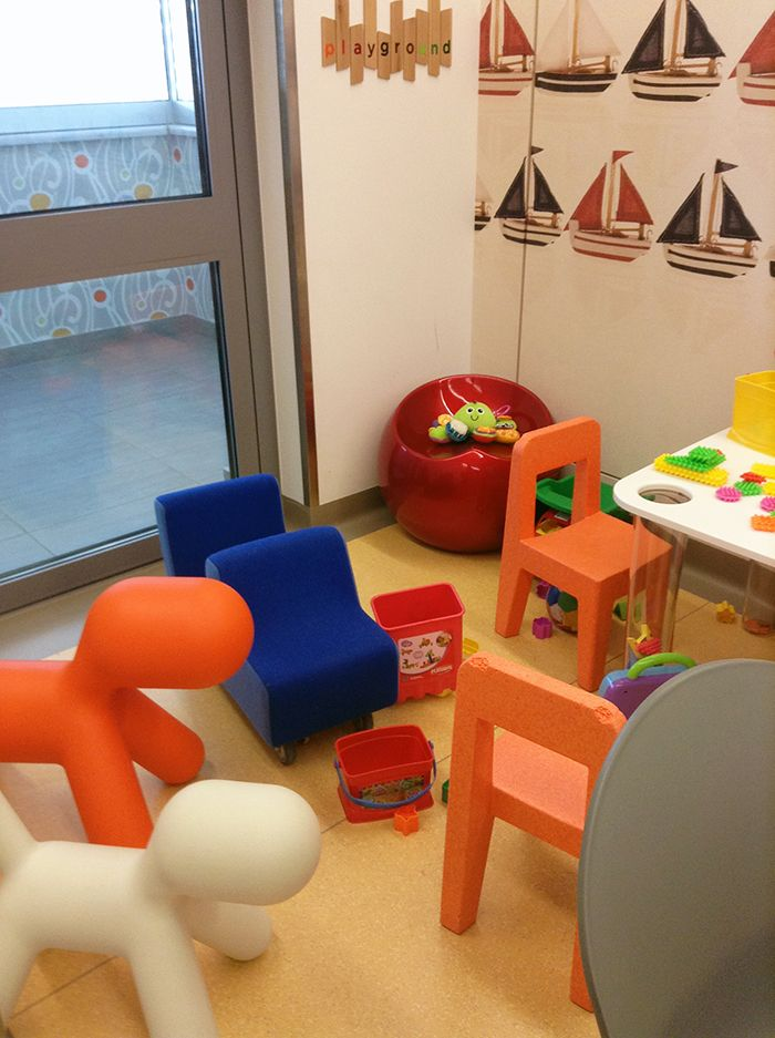 our products by Magis at the Playground area of the Athens Eye Hospital