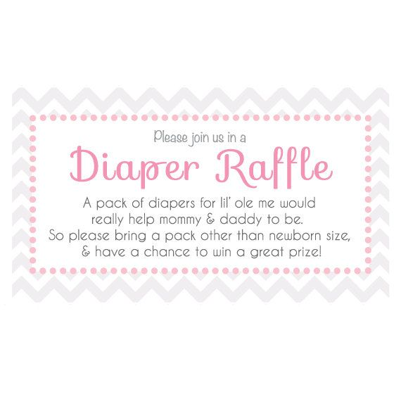 Customizable Baby Shower Diaper Raffle Ticket , Instant PDF Download! Great  Invitation Inserts! #