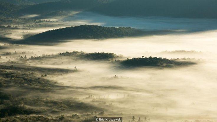 North Carolina's thermal inversion and rare sea of clouds