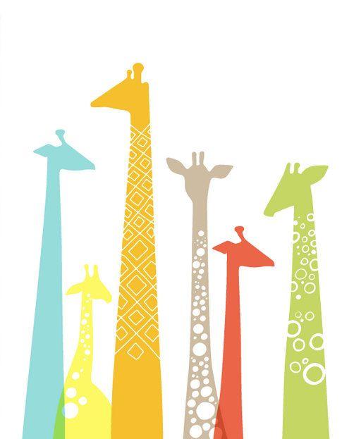 Kinderbilder fürs kinderzimmer giraffe  Die besten 25+ Giraffen silhouette Ideen auf Pinterest ...
