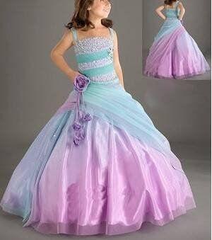 Gold Blue wedding dress gown | ... gown-flower-girl-dress-wedding-dress-evening-dress-children-gown-dress