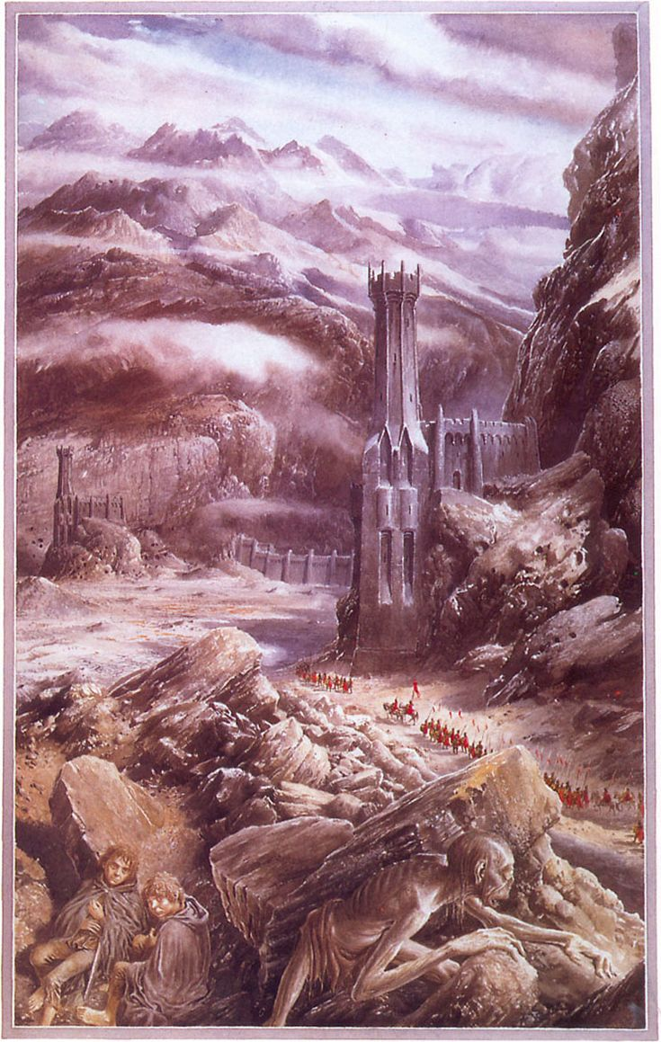 The Lord of the Rings - Alan Lee Art - The Black Gate