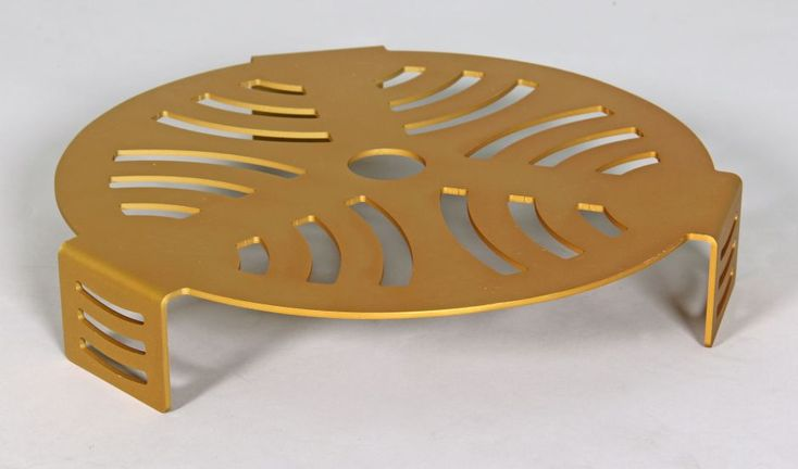 gold anodised pot plant stand