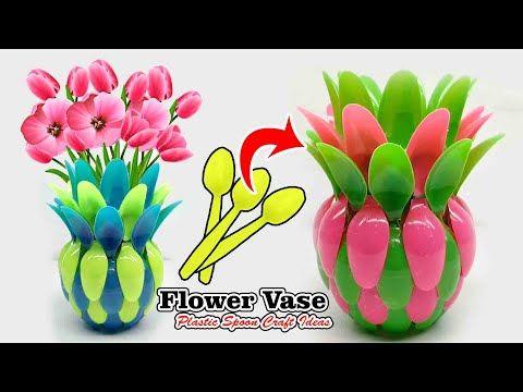 Ide Kreatif Vas Bunga Dari Sendok Plastik Flower Vase