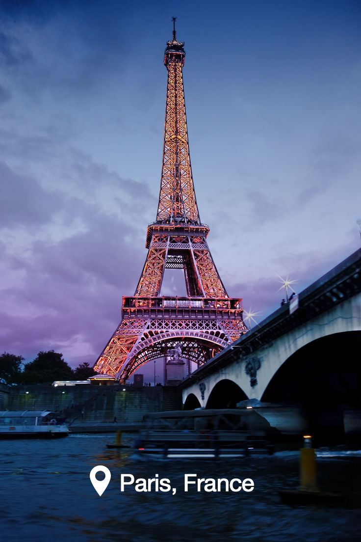 City of Lights - The Eiffel Tower in #Paris, France is just as picturesque in person.