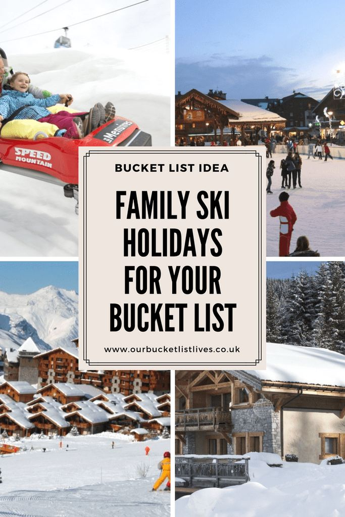 Family ski holidays for your bucket list. Gorgeous modern ski chalets with childcare, playroom, near the slopes and more #skiing #family #travel