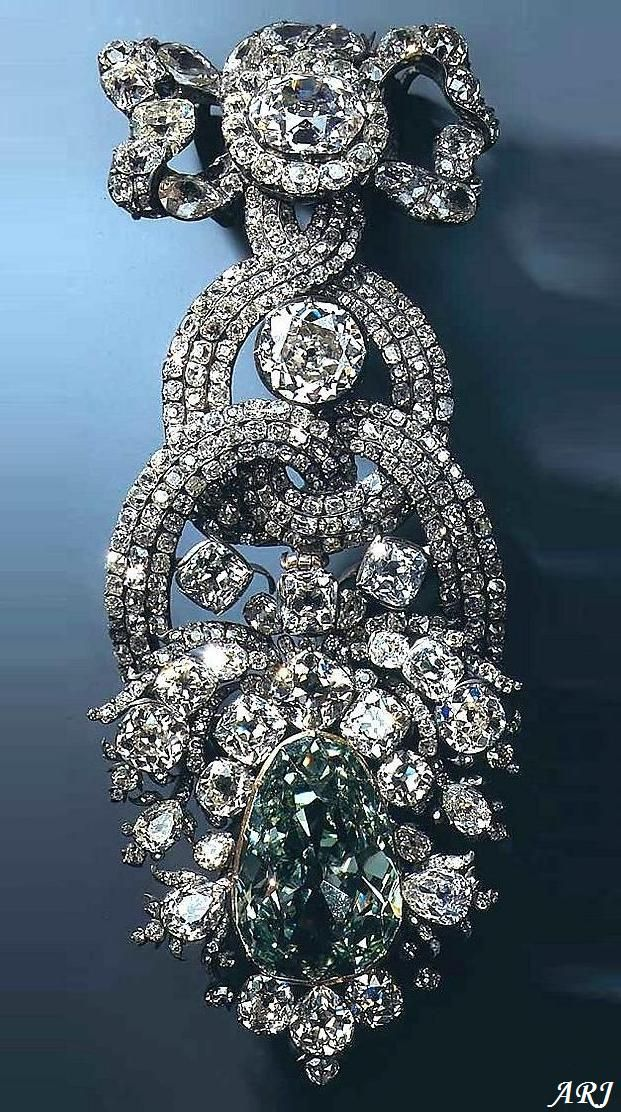 Artemisia's Royal Jewels: German Royal Jewels: Hat Ornament with Dresden Green Diamond