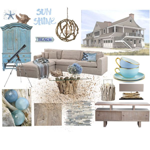 In the hamptons beach house by ruby flip flops on polyvore for Hamptons beach house interior design