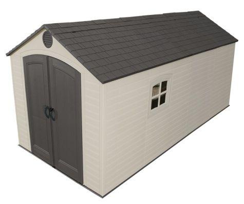 Lifetime Sheds 8x15 Plastic Storage Shed w/ 2 windows