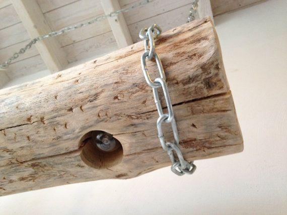 Houten lamp boomstam van OWNO op Etsy, €299.95
