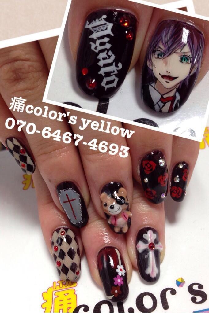 DIABOLIK LOVERS アヤト : Character nail art