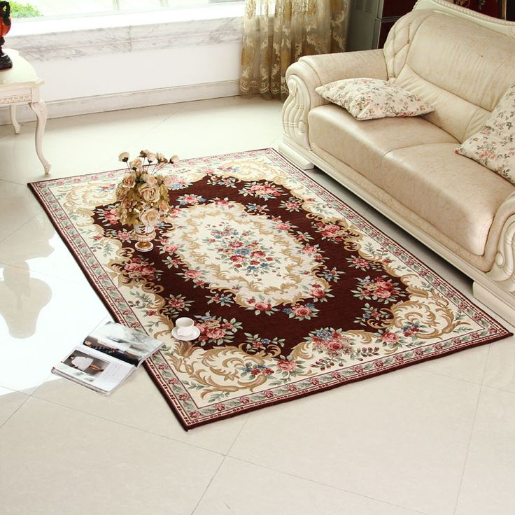 rug for living room size%0A   size    style Rugs Europeanstyle double acrylic yarn carpet for living  room tea table carpet bedroom mat
