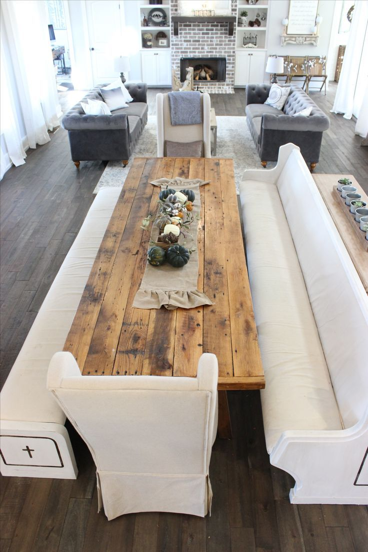Church Pew Dining Table Farmhouse Room In 2019