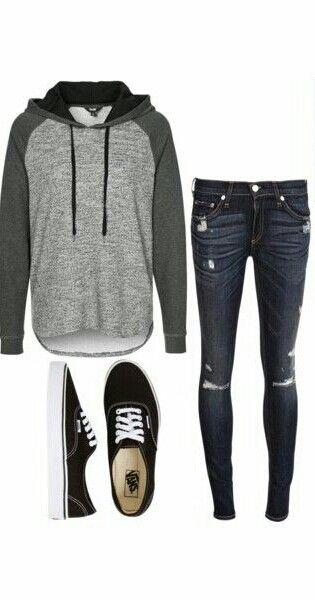Got the sneakers and jeans... similar top... cute!