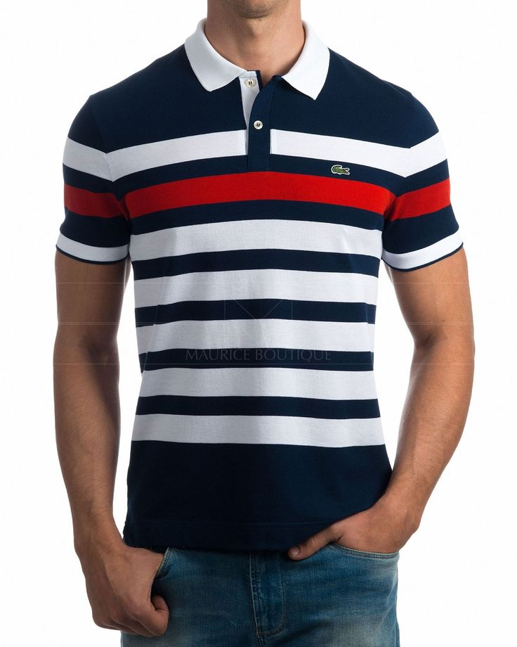 Polos Lacoste Azul Marino & Blanco Elige tu color Compra al mejor precio   Envío gratis a España