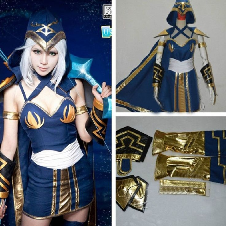 League of Legends LOL ADC Ashe Blau Kleid Lieblich Cosplay Costumes Kostüm Neu in Sammeln & Seltenes, Comics, Manga & Anime | eBay
