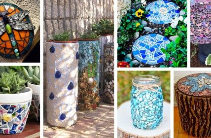 28 Pretty DIY Mosaic Decorations for Your Garden