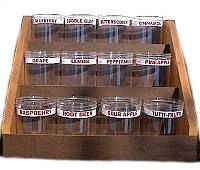 Wooden Display Rack with 12 Display Container