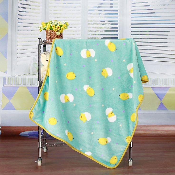 2017 Print Baby Blankets Newborn Swaddle Spring Coral Fleece Blanket Flannel Air Conditioning Bed Sheet Soft 100*73cm
