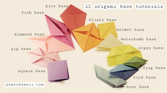bases-opt Origami Base Folds for beginners