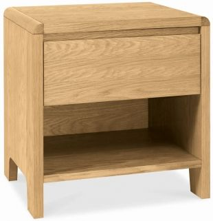 Bentley Designs Capri Oak Bedside Cabinet - 1 Drawer