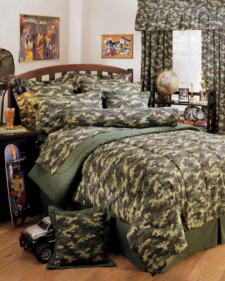 redecorating bedroom%0A Creative Ideas with Camouflage Bedroom Interior Decoration
