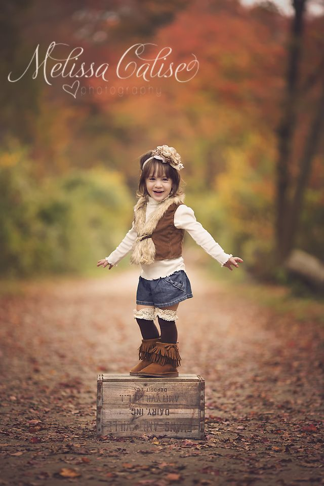 Melissa Calise Photography (Toddler portraits posing ideas girl trees fall)