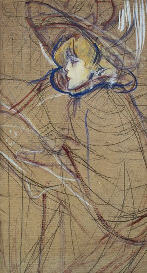 Toulouse-Lautrec-I love his pieces he did on cardboard best