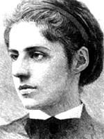 "Emma Lazarus --Jewish poet ""THE NEW COLOSSUS""  engraved on the base of the statue of Liberty."