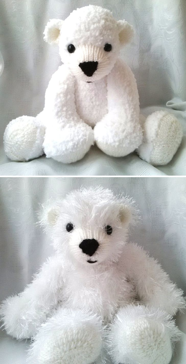 51 best teddy bear knitting patterns images on pinterest knitting pattern for huggable polar bears this pattern from huggable bears includes 2 sizes bankloansurffo Images