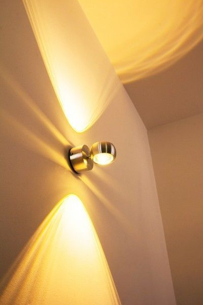 LED Applique Lampada DA Parete Esterni Design Moderno 1X6W IP44 Metallo 118386 | eBay
