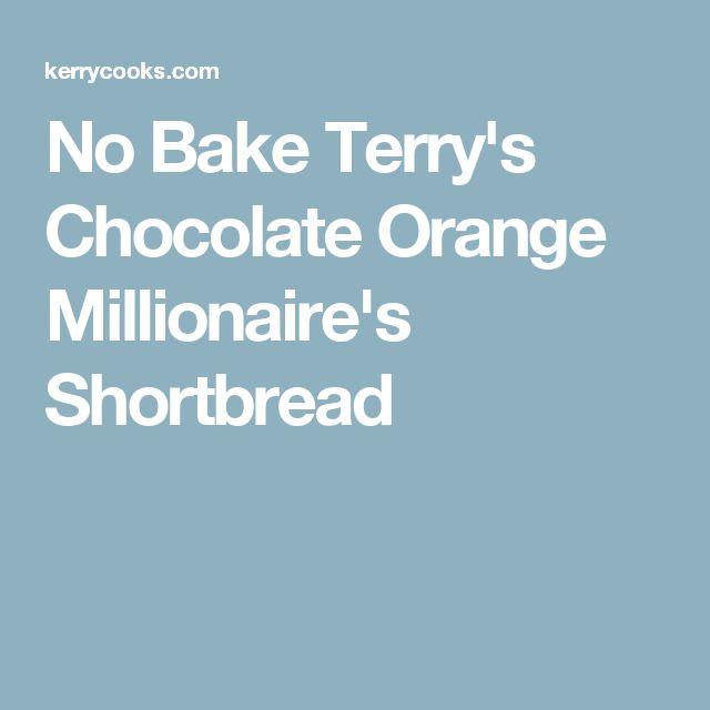 No Bake Terry's Chocolate Orange Millionaire's Shortbread