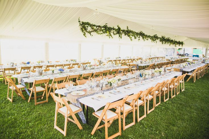 marquee structure, silk lining, trestle tables, wooden padded folding chairs, marquee weddings, south coast weddings, south coast party hire