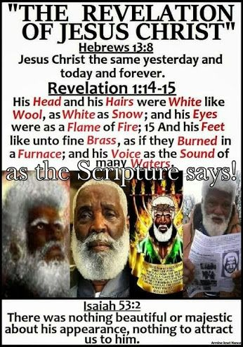 This is not my religion, but the Bible says that Jesus was Black. So if whites are true Christians, and not just white supremacists, why don't we see whites displaying images of Black Jesus? Because Christianity is a tool of oppression.