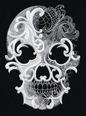 Urban Threads - Such intricate detailing.. Ghost Baroque Skull