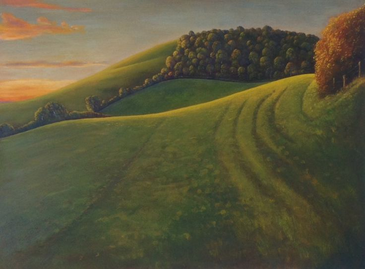 """""""The Low Winter Sun Turns the Greens to Gold"""", Angie Rooke"""