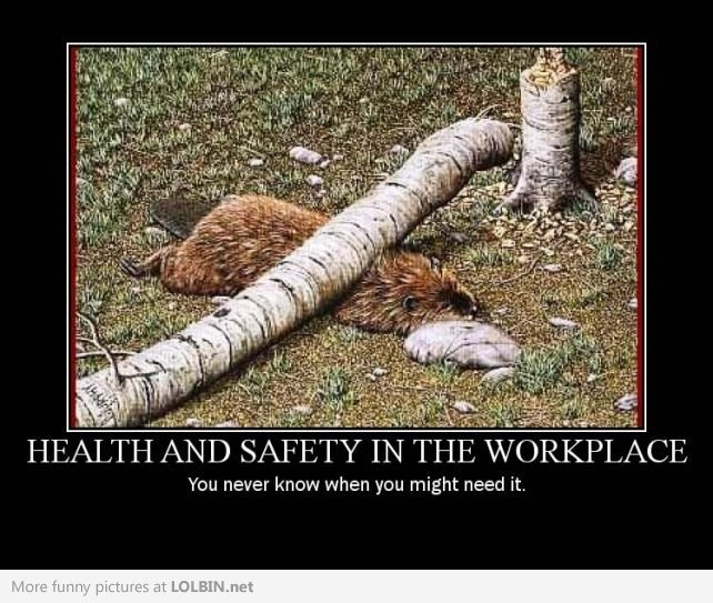 health and safety in the workplace you never know when you might need it sound advice