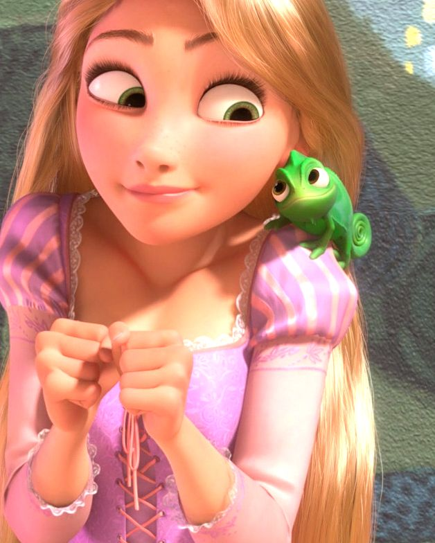 Me and Pascal hung out today. Isn't he the most adorable chameleon out here? #besties #rapunzel