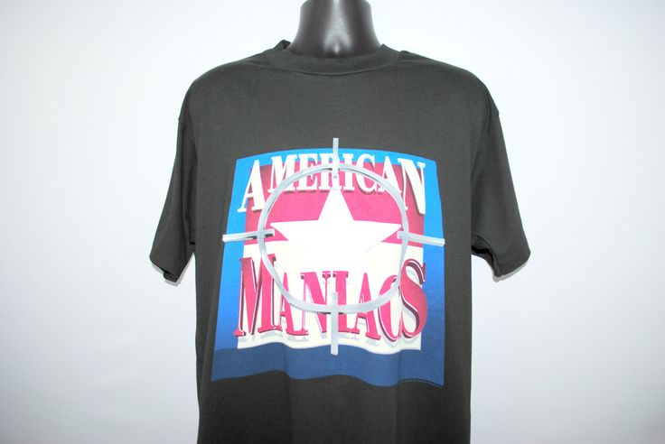 1994 Natural Born Killers Vintage American Maniacs Classic 90's Oliver Stone Crime Spree Action Movie Soundtrack Promo T-Shirt