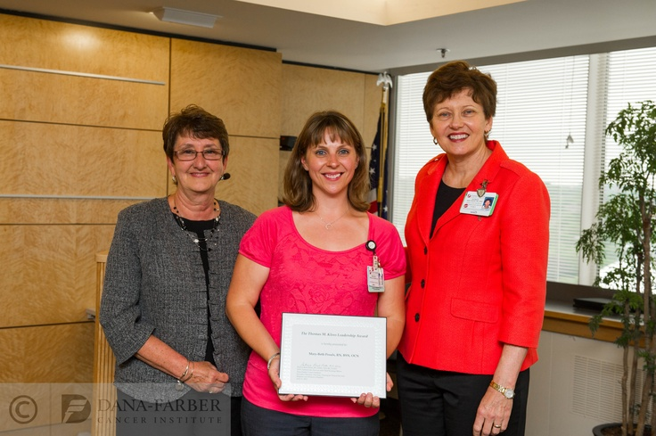 DanaFarber nurses were honored at a recognition event