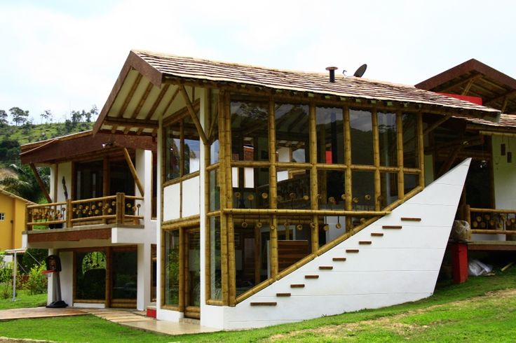 Casa bamb casas verdes zuarq construcciones guadua - Construcciones de casas ...