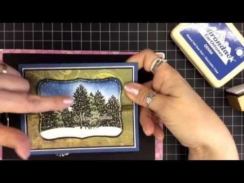 Card Tutorial #7 - Silent Snow - Stampscapes by Lizzy Giggs