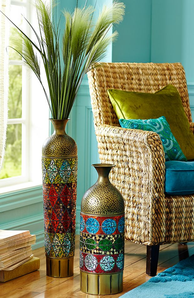 pier 1 living room rugs%0A Love these   mosaic collage floor vases from Pier One Imports