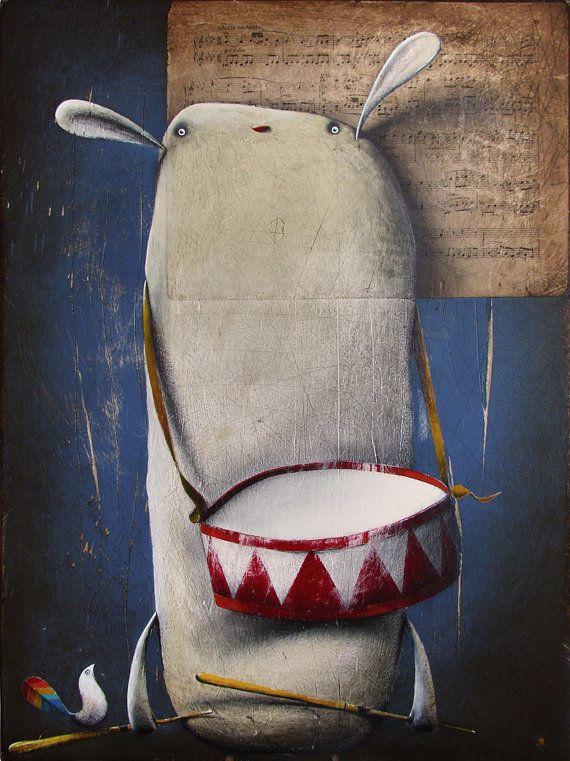 My painting reproduction / print *el Tambor de Hojalata* by RobertRomanowicz on Etsy