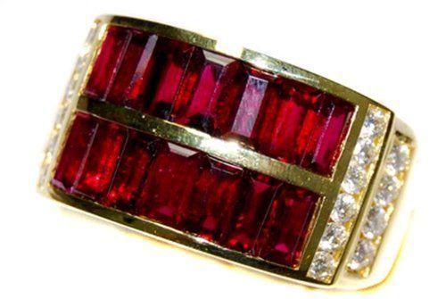 Eternity For Men Ruby and Diamond Unique 18K Yellow Ring [RQ0016] BKGjewelry http://www.amazon.com/dp/B00BRJ0UHQ/ref=cm_sw_r_pi_dp_nG7kwb01N2GDG