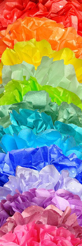 Tissue Paper in an Array of Beautiful Bright Colors - Perfect for Tissue Paper Pom Poms, Tissue Paper Gift Wrap, and  Tissue Paper Flowers.