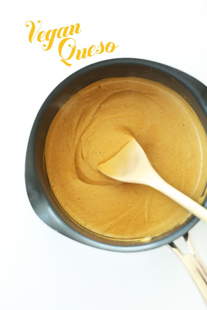 Easy Cashew-LESS Vegan Queso - Soy and Gluten Free!