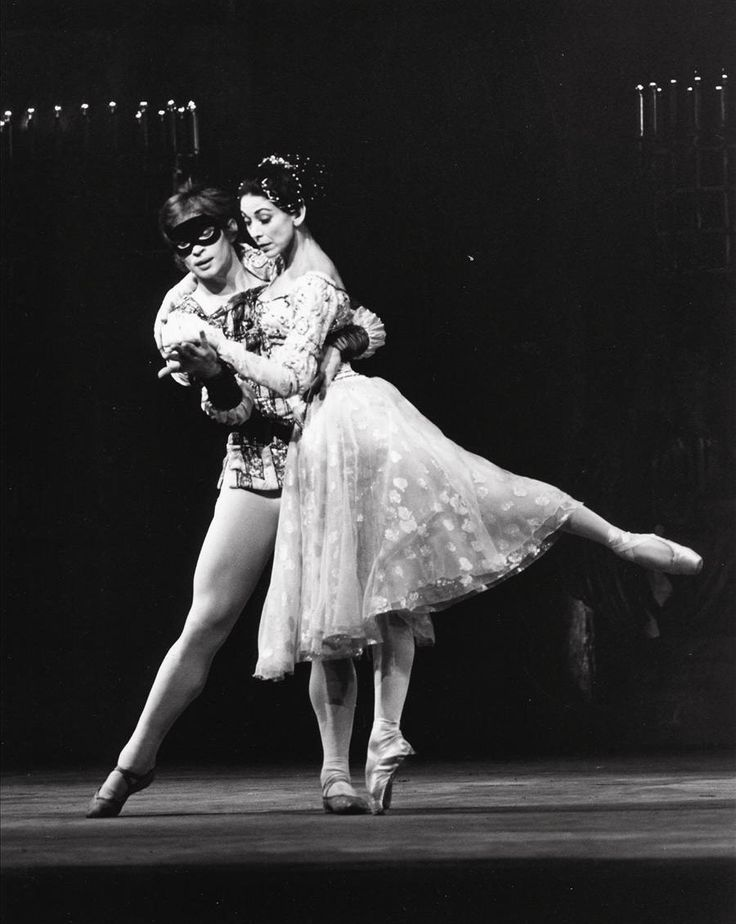 Margot Fonteyn and Rudolf Nureyev in Kenneth MacMillan's 'Romeo and Juliet' for the Royal Ballet - one of the most famous ballet adaptations. The first performance in 1965 was applauded by the audience for 40 minutes in spite of the fact that Nureyev was recovering from an injury and danced with a bandaged leg.