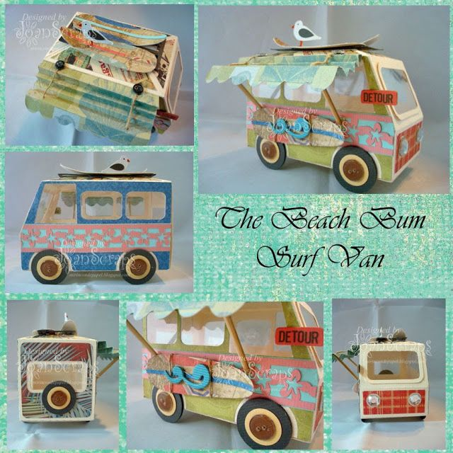 Joan was inspired by Design Team Member, Tamara, to make her version of the Beach Bum Surf Van using the truck from ICE CREAM BIRTHDAY SVG KIT and she did a wonderful job! It's super cute! Check out Joan's and find out how to make it using Tamara's instructions here: http://svgcuts.com/blog/2013/05/14/beach-bum-surf-van-by-tamara-tripodi/